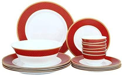 Opalware Sovrana- Regent - Juego de 27 cenas rojas
