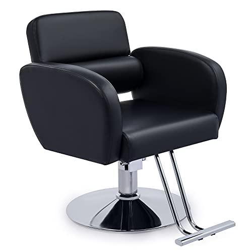 CO-Z Sedia da Barbiere per Parrucchiere Poltrona da Barbiere Professionale con Rotazione a 360 Gradi, Pompa Idraulica, Poltrona da Salone Regolabile in Altezza per Barbieri e Centri di Bellezza