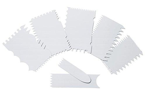 LACOR Dekorieren Plastikkamme, Kunststoff, Elfenbein, 12 x 8 x 2 cm
