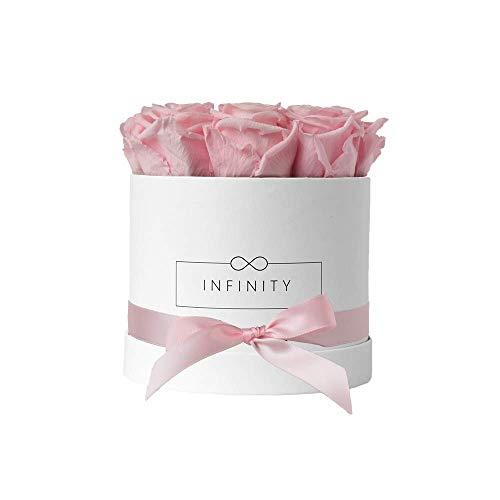 Infinity Flowerbox Medium Blanc Rose de mariée cadeau
