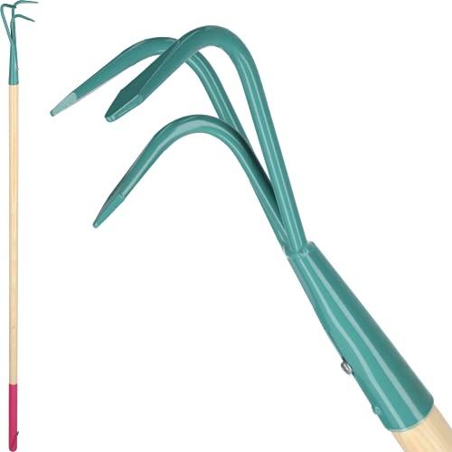KADAX Grubber, Kultivator für Damen, Gartenzubehör aus Stahl, Gartenhacke mit langem Stiel, Handgrubber, ergonomische Blumenkralle zum Lockern des...