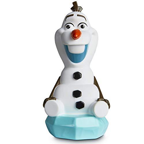 Disney GoGlow Olaf Nachtlicht und Taschenlampe für Kinder, Weiß