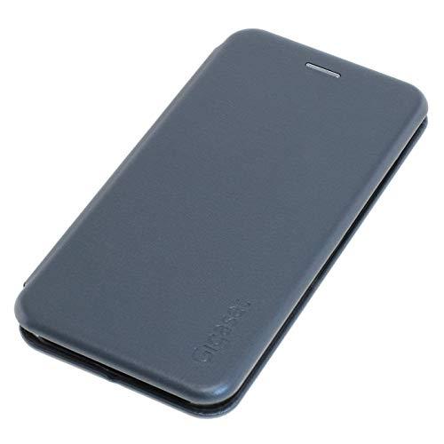 Gigaset Book Case - Full Body Schutzhülle für rundum Schutz - Cover Vermeidet schäden, Anti-Scratch mit 360°- Zubehör für GS195 Smartphone, Titanium Grey