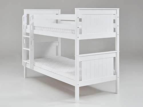 Relita Bett Etagenbett Mia Kinderbett Weiß 90x200cm mit Leiter