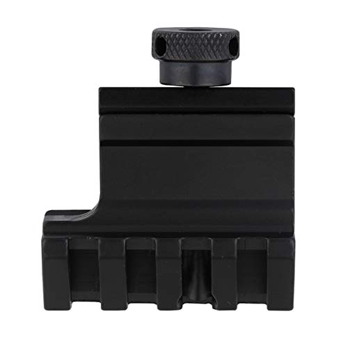 BESPORTBLE Versetzte Taschenlampenringhalterung 45 Grad Versetzte Picatinny-Schienenhalterung für Laser-Taschenlampen im Freien