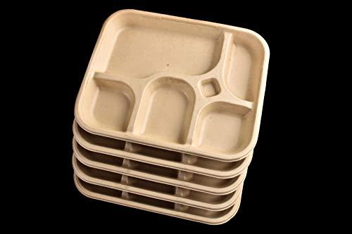 CONCEPT4U 125 Vassoio monouso compostabile Thali 5 scomparti piatto per feste