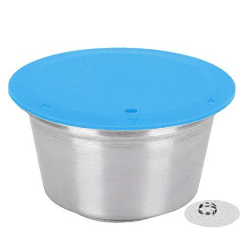 Cápsula de café Cápsula recargable Taza Cápsula de filtro de café para Dolce Gusto Silicona Acero inoxidable Práctico para amantes del café(blue)