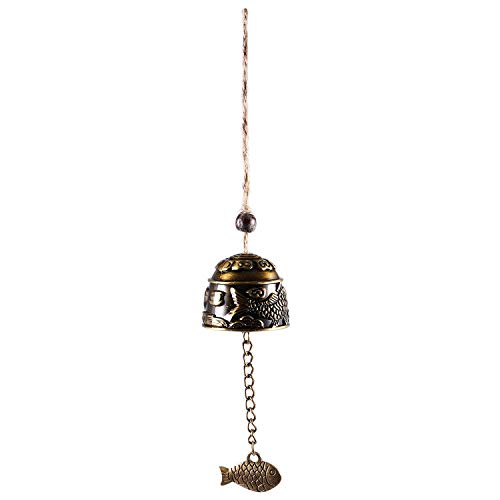 Garden Deco Nrpfell 1Pc Chinese traditionele draak of vis Feng Shui Bell Blessing Fortune Hanging Wind Chime