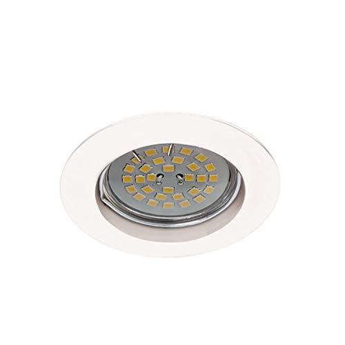 Wonderlamp W-E000024 Basic Basic - Foco empotrable redondo fijo, color blanco [Clase de eficiencia energética A+]