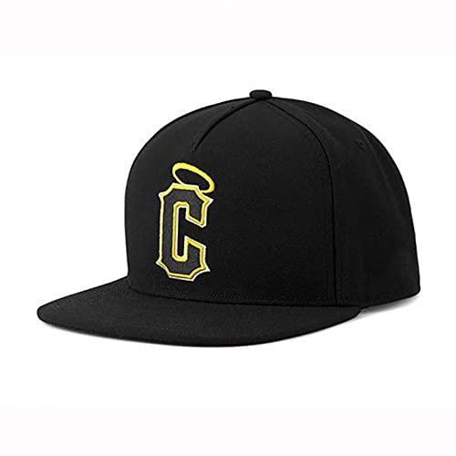 YIERJIU Gorra Gorras Beisbol Gorra Negro Amarillo C Baloncesto Hip Hop Snapback Sombrero para Hombres Mujeres Adultos Gorra de béisbol Informal al Aire Libre,S