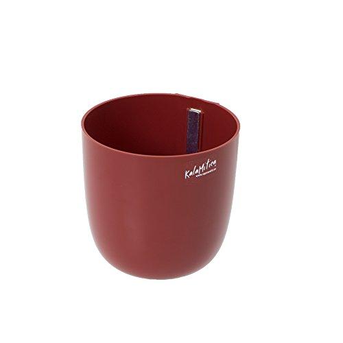 KalaMitica 65112-201-001 Cache-pot Magnétique, Résine Abs, Couleur Rouge, Diamètre 12 cm