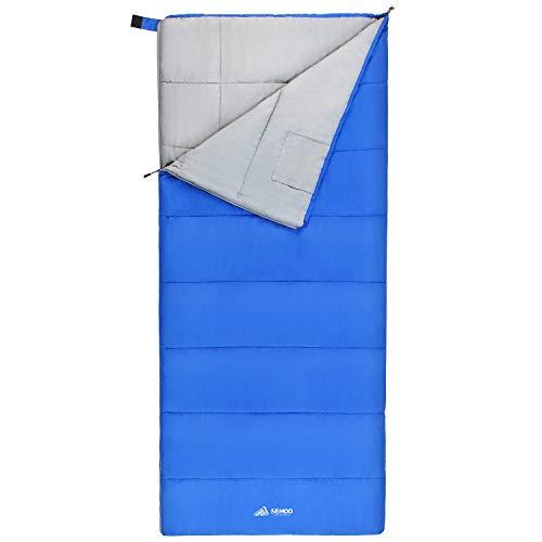 Semoo Ultraleicht Schlafsack für Erwachsene und Kinder Wasserdicht Deckenschlafsack Ideal für Camping Wandern und Outdoor-Aktivitäten 190 x 84cm