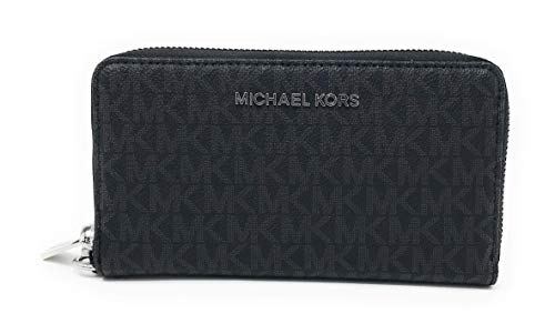 Michael Kors Jet Set Travel Large Flat Multifunction Phone Case Wristlet (Black 2018)