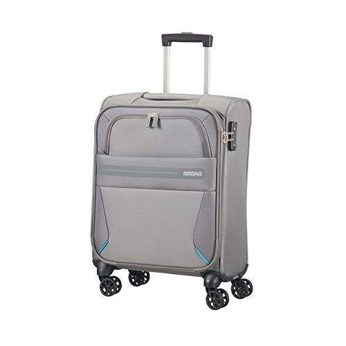 American Tourister Summer Voyager Spinner Equipaje de Mano, 55 cm, 36 Litros, Color Gris