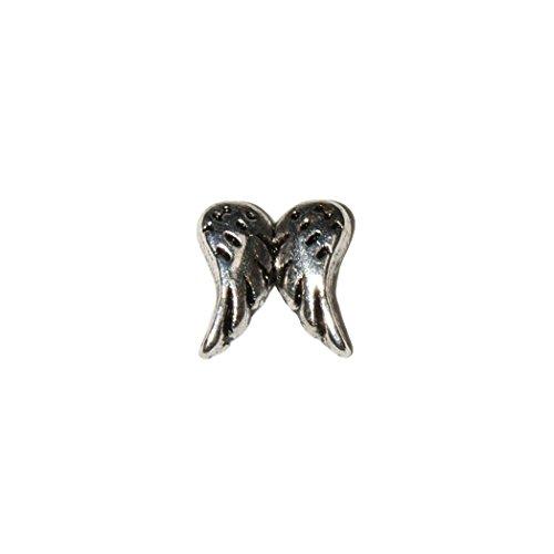 Alas de ángel–7mm encanto flotante para Memoria de vida y estilo Origami búho Lockets