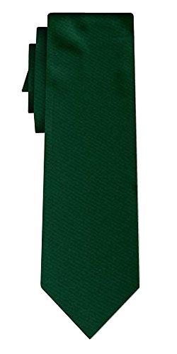 Cravate unie solid dark green VII
