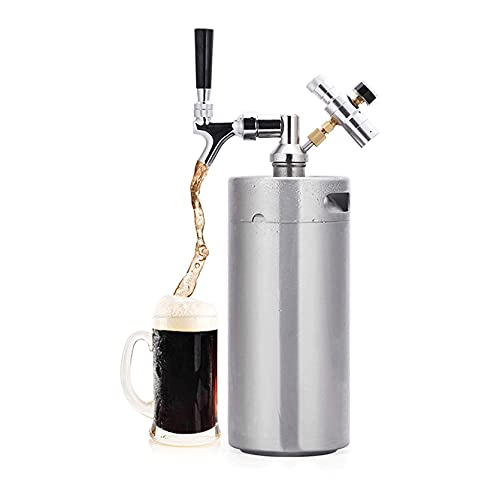 dispensador de cerveza,Grifo Cerveza Kegs de cerveza de acero inoxidable, sistemas portátiles de cerveza de cerveza doméstica, sistemas de cerveza de cerveza con kits de grifos ajustables para almacen