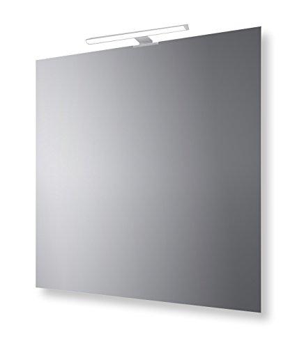 San Marco Specchio Bagno Reversibile con Lampada LED 70x70 cm