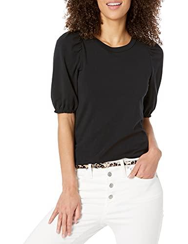 女式经典合身泡泡袖圆领 T 恤