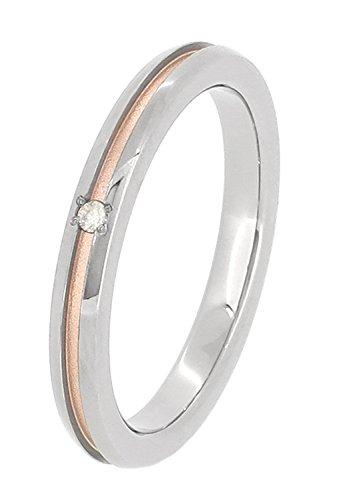 [フェフェ]fe-fe×phiten [特 別 仕 様] ファイテン ダイヤモンド 平打ち ピンクゴールド レディースリング チタン 6〜12号 (8号) 指輪