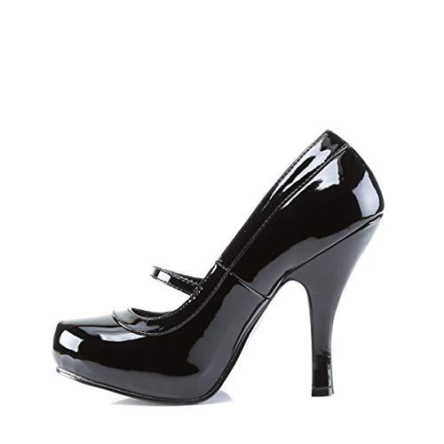 Pleaser PinUp Couture CUTIEPIE-02 Damen Pumps, Schwarz (Blk pat), EU 37 (UK 4) (US 7) - 3