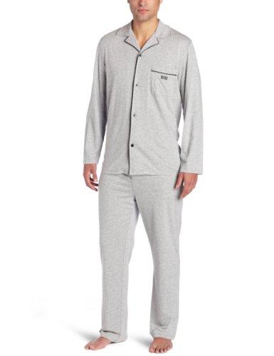 Hugo Boss BOSS Herren Strick-Pyjama-Set - Grau - Large