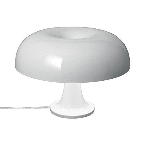 Artemide Nessino E1420W Halogen weiß Tischleuchte Tisch-Lampen (weiß, Polycarbonat, Wohnzimmer, IP20, E14, 4Bulb (S))