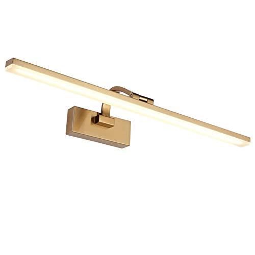 4000k Moderne Feuchtigkeitsfest Spiegel Schrank Licht,gold Metall Finish Verstellbar Make-up Lampe Badleuchte Wandleuchte 8zoll Von Der Wand-gold 71cm(28inch)/16w