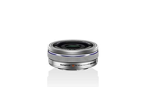 Oferta de Olympus Objetivo M.Zuiko Digital 14-42 mm F3.5-5.6 EZ, Zoom estándar, Adecuado para Todas Las cámaras MFT (Modelos Olympus OM-D & Pen, Serie G de Panasonic), Plata