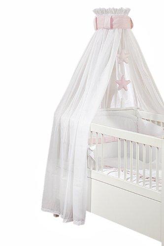 Christiane Wegner 0310 00-107 - Bett-Set 'Rosè' für Bett 70 x 140 cm, bestehend aus Himmel mit Mobile, Kopfschutz, Bettwäsche 100 x 135 cm und kleinem Kissen 40 x 60 cm