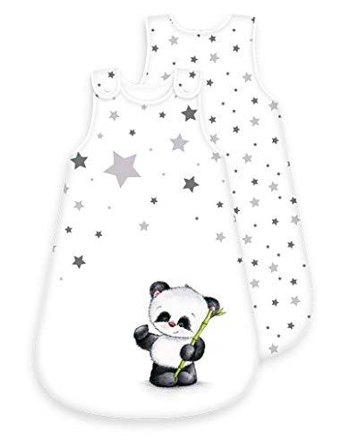 Baby-Schlafsack Motiv Panda - ganzjährig - umlaufender Reißverschluss Druckknopf (Panda, 70 cm)
