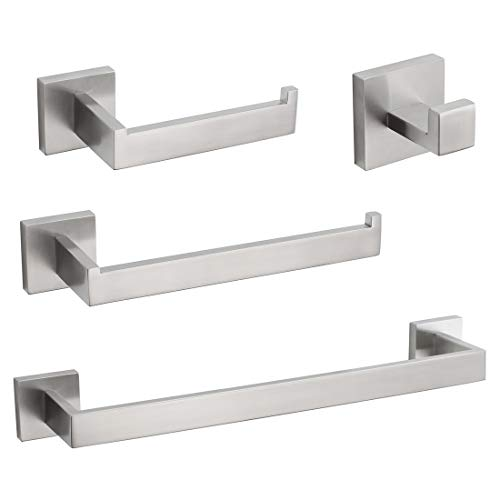 VELIMAX SUS304 Stainless Steel 4 Pieces Bathroom Hardware Accessories Set Wall Mounted Towel Bar...
