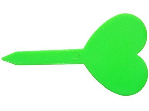 Etiquettes en Plastique Vert Coeur à Planter x 5 - Plastic Labels Clover to Plant x 5 - SEM13