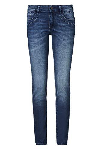 Paddocks`s Damen Jeans Lucy - Slim Fit - Blau - Blue Dark Stone, Größe:W 33 L 34, Farbauswahl:Blue Dark Stone (4504)