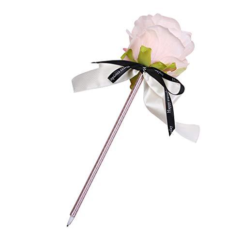 Meisijia Rose Bowknot Kugelschreiber Simulation Blumen Schreiben Hochzeit Werbung Signature Pens Supplies
