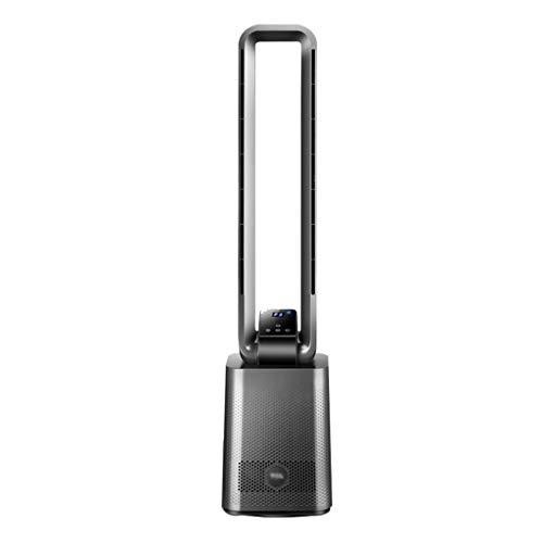 Ventiladores de torre Ventilador Sin Hojas para El Hogar Ventilador Eléctrico Circulante Que Ahorra Energía Piso Silencioso Mando A Distancia Inteligente (Color : Black, Size : 22 * 18 * 97cm)