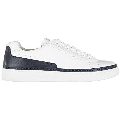 Prada scarpe sneakers uomo in pelle nuove nevada calf bianco
