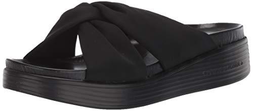 Donald J Pliner Women's Flat Sandal, Black, 8