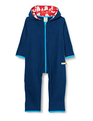 loud + proud Kinder-Unisex Fleece Overall, Ultramarin, 86/92