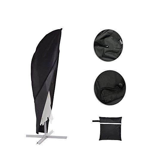 mychoose Housse de Protection pour Parasol Déporté 210D Oxford Imperméable Résistant à UV Intempéries avec Sac de Rangement (1, 280cm(30x81x45))