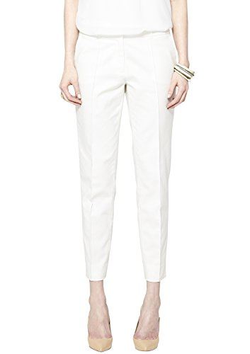 s.Oliver BLACK LABEL Damen 7/8 Hose 11.504.76.4609, Gr. 40, Elfenbein (sunshine white 0115)