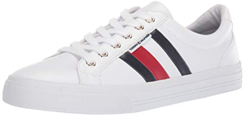Tommy Hilfiger Women's Lightz Sneaker, White Multi, 6