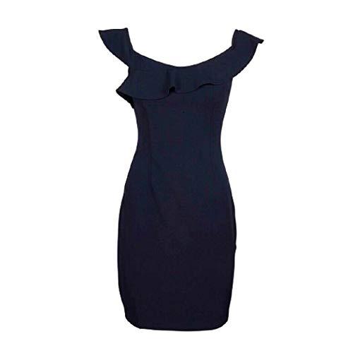 Guess Rouches Kleid für Damen, Schwarz, Größe XL