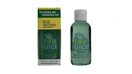 Toe Juice with DermaVine-4.6oz Bottle Ideal Skin Treatment for Eczema, Psoriasis, Shingles, Rashes, Warts, Fungus, and More