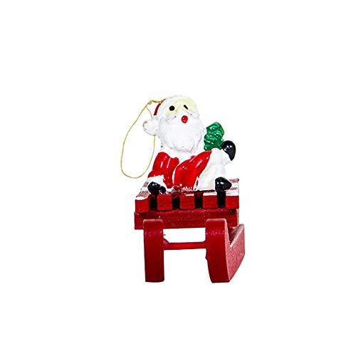 Desconocido Super1798 Santa Claus - Figura Decorativa para árbol de Navidad, diseño de muñeco de Nieve, Reno en el Muslo