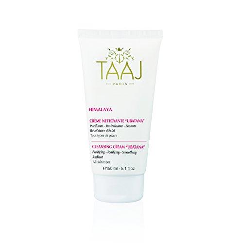 Taaj Ubatana - Crème nettoyante pour une peau lisse 150 ml - Soin purifiant, revitalisant, lissant et révélateur d'éclat - Convient pour tous types de peaux - Nettoie en douceur et ravive le teint