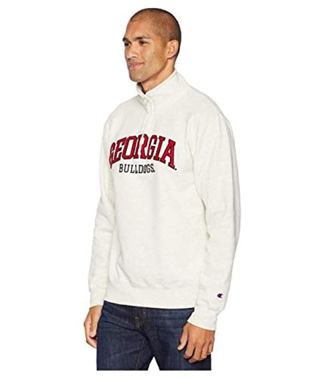 ドール雰囲気天才Champion College Georgia Bulldogs Powerblend? 1/4 Zip 服 SM 【並行輸入品】
