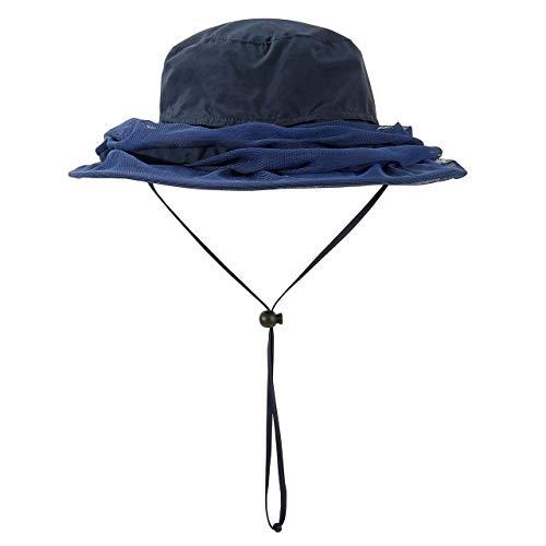 Faletony Kopfnetz Moskito Sonnenhut, Mückenschutz UV Schutz Buschhut Anglerhut Fischerhüte Safari Moskitonetz Hut für Damen Herren (Mattblau)