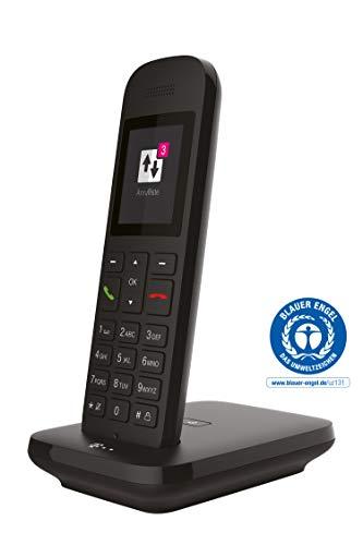 Telekom Sinus 12 in Schwarz Festnetz Telefon schnurlos, 5 cm Farbdisplay, beleuchtete Tastatur | Anschlussunabhängige Nutzung an Allen handelsüblichen Routern und Standardanschlüssen