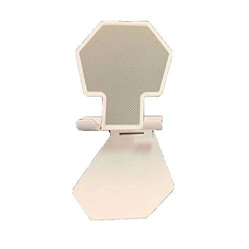KOIYPW Titular para teléfono, Soporte de teléfono móvil de Aluminio Estirable Accesorios de Metal para teléfonos móviles Soporte de Soporte de extensión Plegable (Color : White)